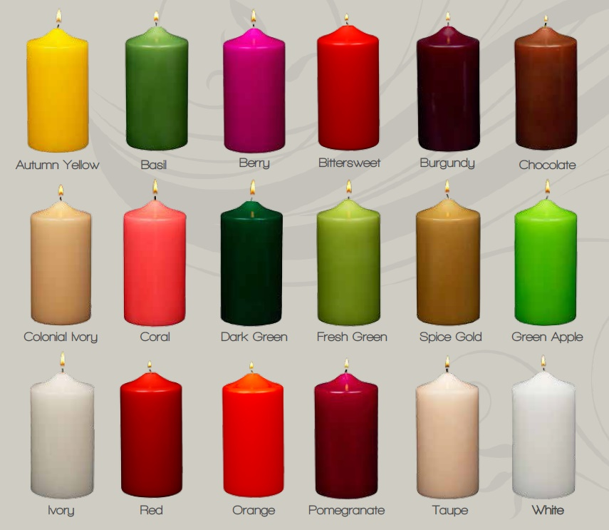 patrician candles pillar color chart